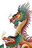 Kina drake på isolat royaltyfri bild
