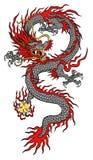 Kina drakeillustration Arkivfoton