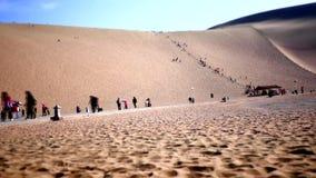 Kina DunHuang öken stock video