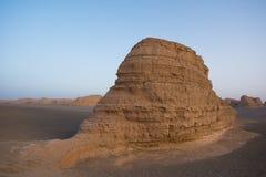 Kina Dunhuang Yadan parkerar nationellt geologiskt Arkivbild
