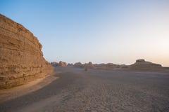 Kina Dunhuang Yadan parkerar nationellt geologiskt Arkivfoton