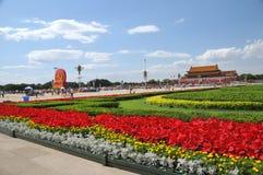 Kina förbereder sig för 90th på Tiananmen Royaltyfria Foton