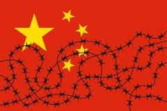 Kina - försening, internering och inspärrning vektor illustrationer