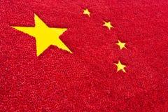 Kina flaggabakgrund Royaltyfri Fotografi