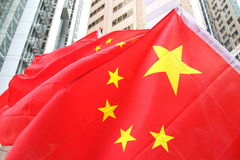 Kina flaggor Royaltyfria Bilder