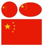 Kina flaggor Arkivfoto
