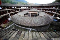 Kina Fujian Hakka Tulou Arkivfoton