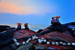Kina Fujian Huian kvinnlig Royaltyfria Bilder