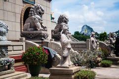 Kina göt lionen. Royaltyfri Bild