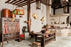 Kina gamla kökinredningar royaltyfria foton