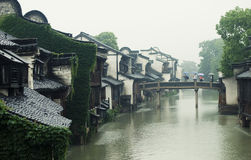 Kina gammal stad Arkivbild