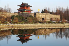 Kina gammal stad, Jingzhou Royaltyfria Bilder