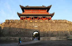 Kina gammal stad, Jingzhou Arkivbilder