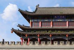 Kina gammal stad, Shanxi Fotografering för Bildbyråer