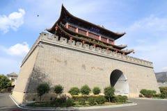 Kina gammal stad, Shanxi Arkivbild