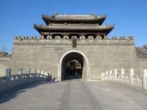 Kina gammal stad, Tianjin Arkivbild