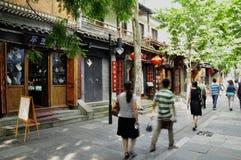 Kina gata, Chengdu Royaltyfria Foton