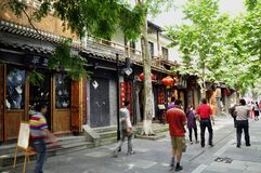 Kina gata, Chengdu Arkivfoton