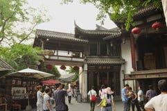 Kina gata, Chengdu Royaltyfri Foto