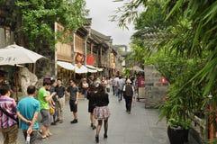 Kina gata, Chengdu Arkivfoto