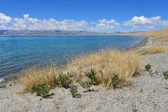 Kina Great Lakes av Tibet Sjö Teri Tashi Namtso i sommardag royaltyfri bild