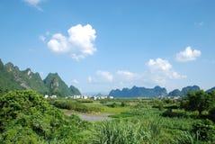 Kina Guilin landskap Arkivbild