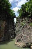 Kina guizhou anshun, landskap för sceniskt område för vattenfall för huangguoshu för stjärnafärjabro naturligt royaltyfri fotografi