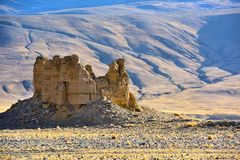 Kina härlig plats i Tibet Arkivbild