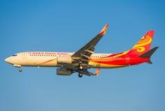 Kina Hainan Airlines flygplan Arkivbild