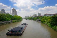 Kina Hangzhou Peking Hangzhou den stora Canalen Royaltyfri Foto