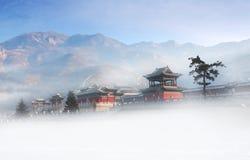 Kina HengShan för å±± för  för æ för åŒ-å²³ ' berg Fotografering för Bildbyråer