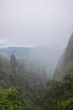Kina Hubei Shennongjia berglandskap Arkivbilder