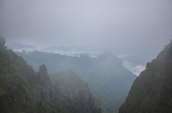 Kina Hubei Shennongjia berglandskap Royaltyfri Bild