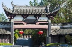 Kina Huizhou arkitektur 2 Arkivbilder