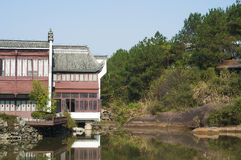 Kina Huizhou arkitektur Royaltyfria Bilder