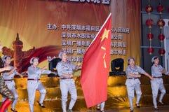 Kina - Indpendence årsdag Arkivbilder