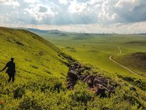 Kina - inre mongolisk grässlätt arkivfoto