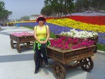 Kina Jinzhou internationell trädgårds-utläggning Royaltyfri Foto