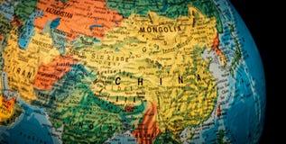 Kina jordklot Royaltyfria Bilder