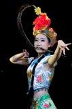 Kina kapaciteter för dans för Pekingopera Arkivfoto