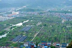 Kina landsbygder Arkivbild