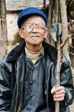 Kina lantliga gamla människor Royaltyfri Bild