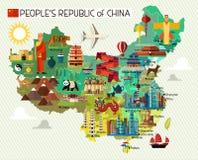 Kina loppsamling stock illustrationer
