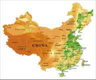 Kina lättnadsöversikt Arkivbilder