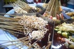 Kina mat: kryddigt varmt Arkivfoton