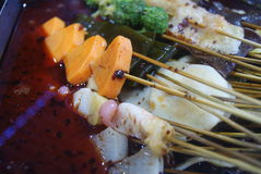 Kina mat: kryddigt varmt Fotografering för Bildbyråer