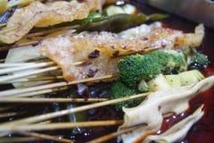 Kina mat: kryddigt varmt Arkivbilder
