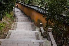 Kina Nantong Wolf Mountain Natural Scenic Area Royaltyfri Fotografi