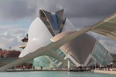 Kina planetarium i opera teatr spain Valencia Obraz Royalty Free
