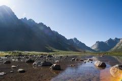 Kina Qinghai fe sjö Arkivbilder